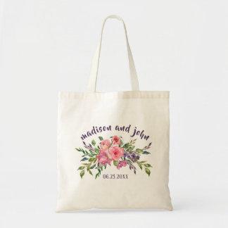 Tote Bag Lavande de demoiselles d'honneur et bouquet floral