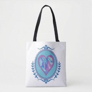 Tote Bag Lavande Fourre-tout bleu deux