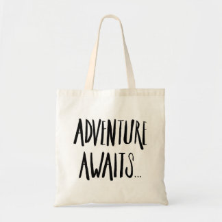 Tote Bag L'aventure de Fourre-tout BagWatercolor attend