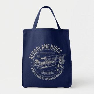Tote Bag L'avion monte des cadeaux d'avion du cirque   de
