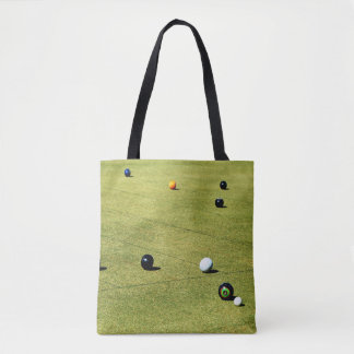 Tote Bag Lawn_Bowls, _Action, _Unisex_Shopping_Bag