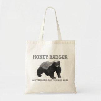 Tote Bag Le blaireau de miel n'est personne heure obtenue