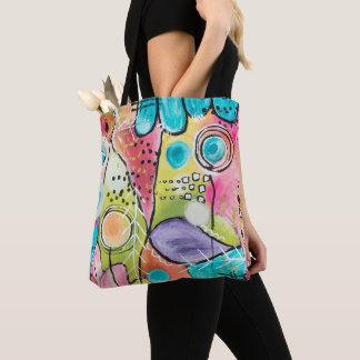 Tote Bag Le bloc artistique abstrait de couleur gribouille