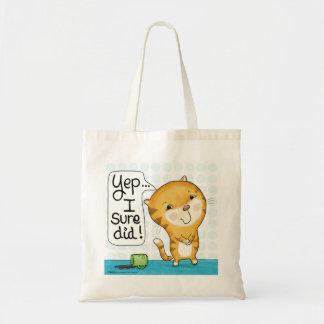 Tote Bag Le chat de Cattitude- renverse le café