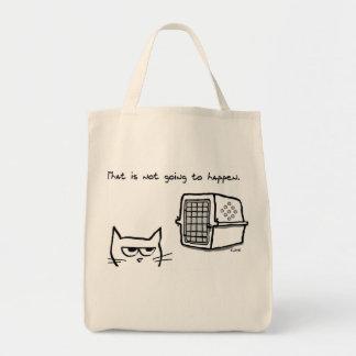 Tote Bag Le chat fâché n'ira pas au vétérinaire