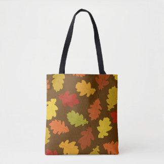 Tote Bag Le chêne de chute part de Brown tout plus de -