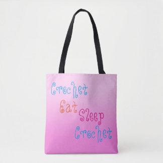 Tote Bag Le crochet mangent le crochet de sommeil - projet