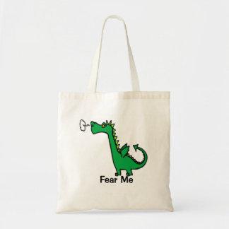 Tote Bag Le dragon de bande dessinée me craignent
