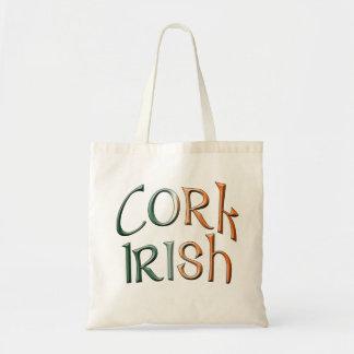 Tote Bag Le drapeau irlandais de liège de style celtique du