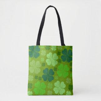 Tote Bag Le jour de Patrick de saint, quatre trèfles de