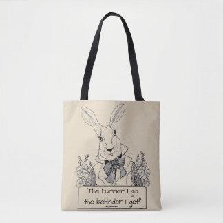 Tote Bag Le Lapin-Le blanc hurrier je vais, le behinder que