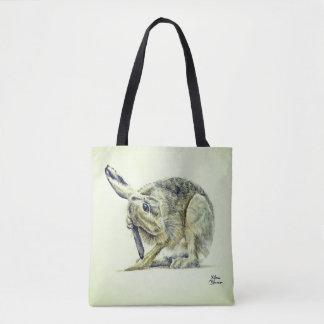 Tote Bag Le lièvre mignon de toilettage - couleur pour