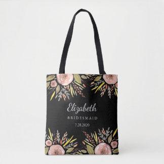 Tote Bag Le mariage floral rustique rougissent des