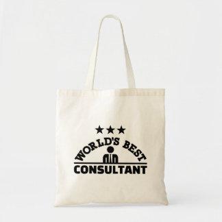 Tote Bag Le meilleur consultant en matière du monde