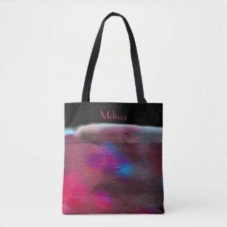 Tote Bag Le mélange de couleur d'eau s'est fané dans le