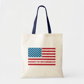 Tote Bag Le panier du drapeau américain de Deplorables