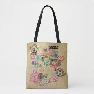 Tote Bag Le passeport vintage emboutit tous plus de -