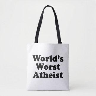 Tote Bag Le plus mauvais athée du monde