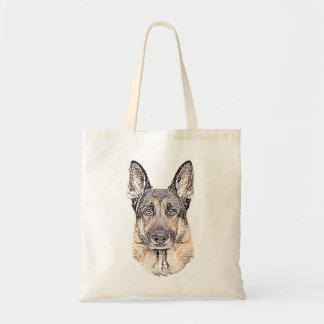 Tote Bag Le portrait d'un chien de berger allemand a