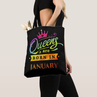 Tote Bag Le Queens sont en janvier cadeau d'anniversaire né