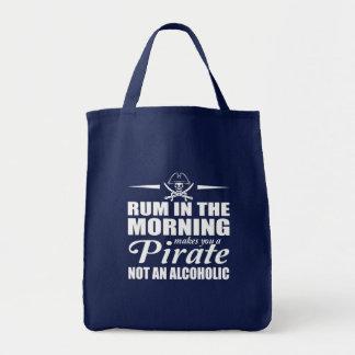 Tote Bag Le rhum dans le matin vous incite à pirater non