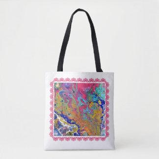 Tote Bag Le rose bouillonne acrylique versent Fourre-tout