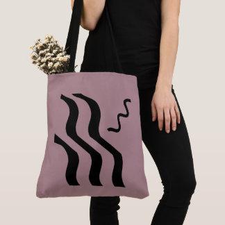 Tote Bag Le rose modifie la tonalité les lignes noires
