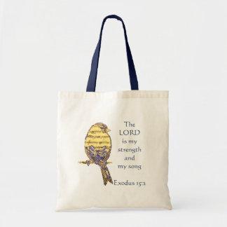 Tote Bag Le seigneur est mon oiseau d'écriture sainte de