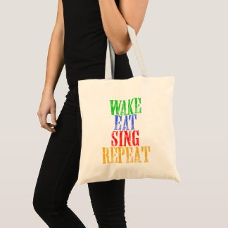 Tote Bag Le sillage mangent chantent la répétition