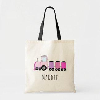 Tote Bag Le train locomotif et le nom du bébé mignon