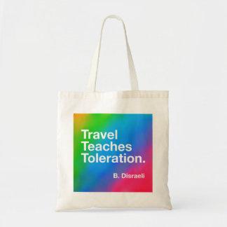 Tote Bag Le voyage enseigne la tolérance Fourre-tout