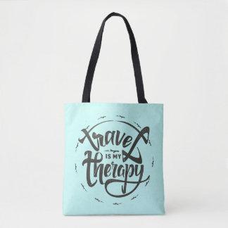 Tote Bag Le voyage est ma thérapie