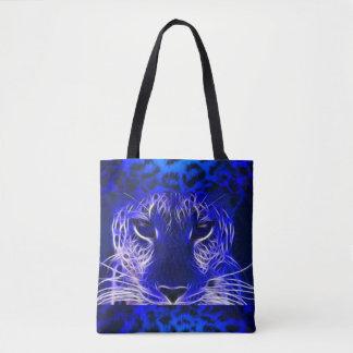 Tote Bag Léopard bleu