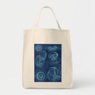 Tote Bag Leptomedusae d'Ernst Haeckel (bleu-foncé)