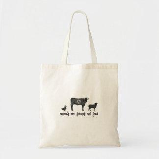 Tote Bag les animaux sont la nourriture 2 d'amis pas
