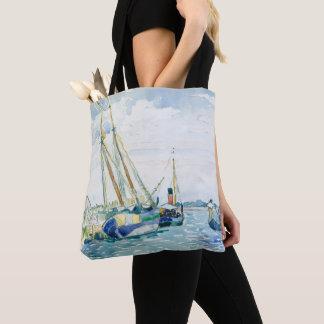 Tote Bag Les bateaux marins de scène s'approchent de Venise