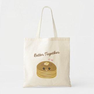 Tote Bag Les crêpes mignonnes de beurre améliorent ensemble