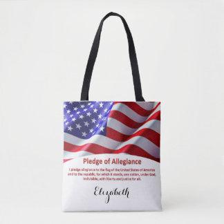 Tote Bag Les Etats-Unis diminuent et serment de fidélité