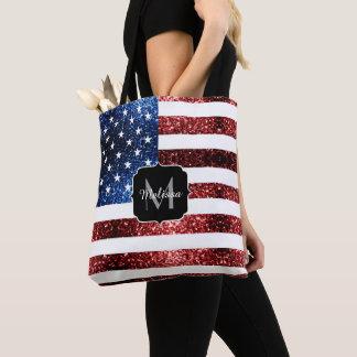 Tote Bag Les Etats-Unis marquent le rouge et le bleu