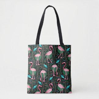 Tote Bag Les fougères des oiseaux 20s Deco de flamant