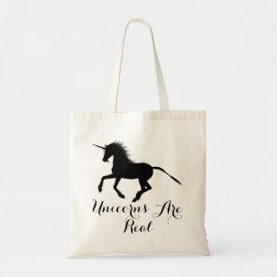 Tote Bag Les licornes noires de silhouette de la