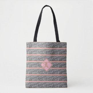 Tote Bag Les parties scintillantes argentées roses