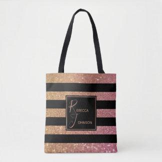 Tote Bag Les parties scintillantes de luxe de rose d'or
