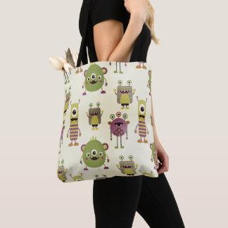 Tote Bag Les petits monstres mignons conçoivent pour des