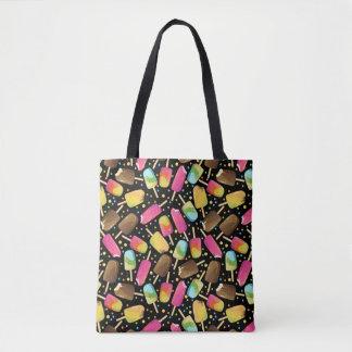 Tote Bag Les popsicles multicolores de crème glacée arrose