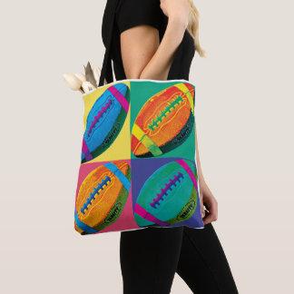 Tote Bag Les quatre football dans différentes couleurs