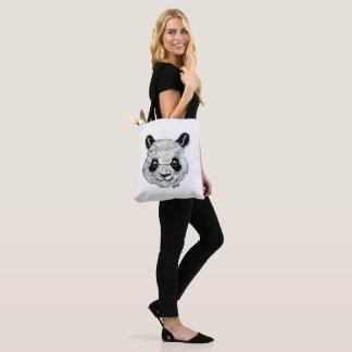 Tote Bag Les USA ont fait le panda peint à la main 2-Sided