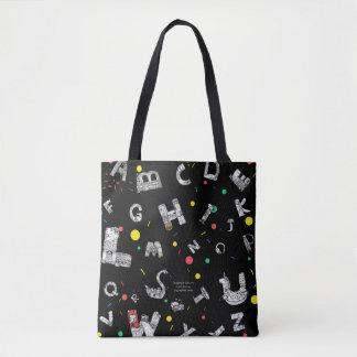 Tote Bag Lettres fantastiques Fourre-tout noir