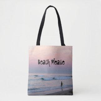 Tote Bag Lever de soleil de n de surf - plage svp