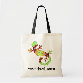 Tote Bag Lézard coloré de Gecko d'amusement